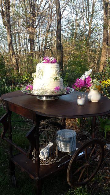 tea cart cake stand