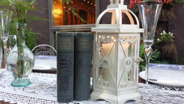 books and lanterns