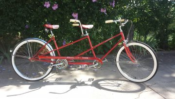 """You'll look sweet Upon a seat Of a bicycle built for 2"""