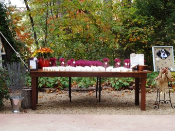 Favors on a farmtable