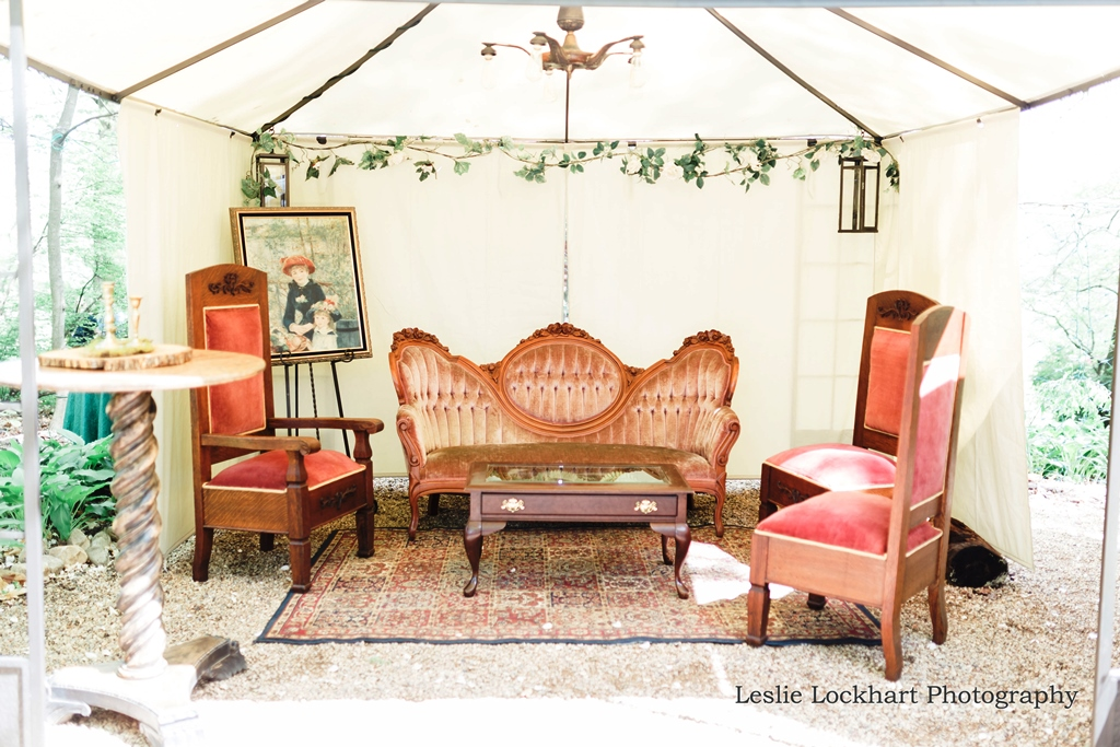 Antique Outdoor Reception Lounge
