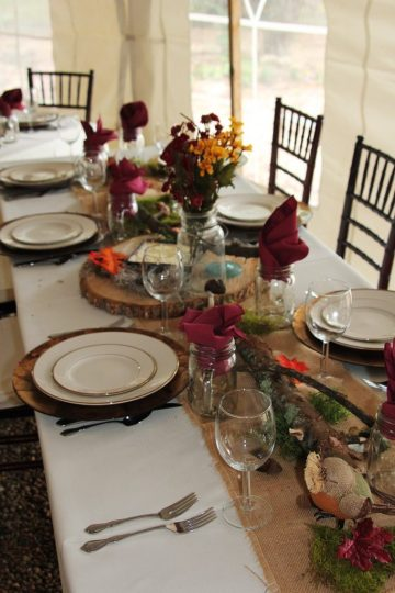 Tables can be simple or complicated--make sure you consider how much time each will take to decorate