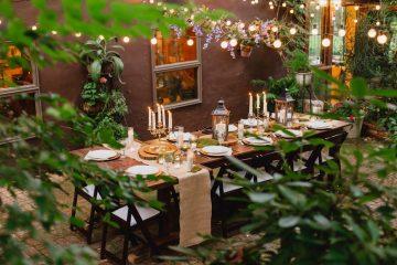 Storybrook Farm Secret Garden reception by JoPhoto