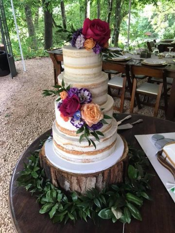Petite Sweets wedding cake Storybrook Farm
