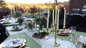 Event on the Farmhouse deck