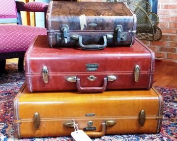 Vintage suitcase props