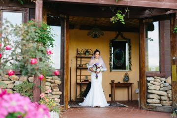 Entering the Rose Garden from the Sun Room. Elizabeth Large Photography