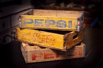 antique soda crates