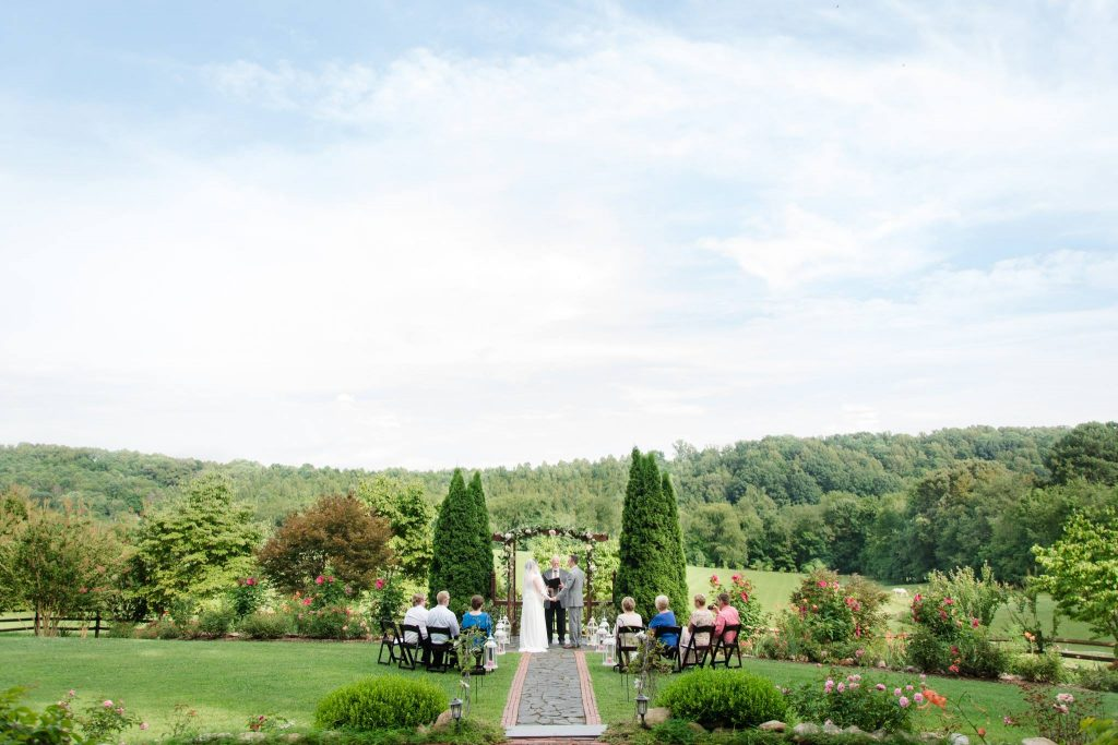 Storybrook Farm elopement Ceremony with a view by The Modern Heart Photography