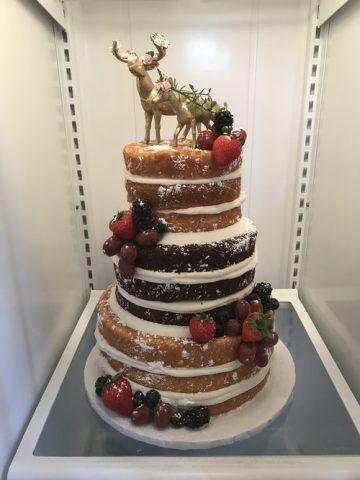 Storybrook Farm Naked Wedding Cake by Petite Sweets