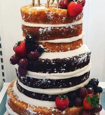 Storybrook Farm Naked wedding cake by Petite Sweets 2