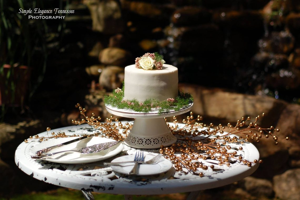 Wedding cake by Petite Sweets at Storybrook Farm